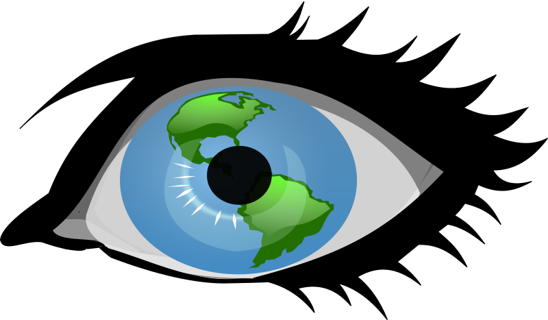 Global Vision by Woofer - Eye with globe in the center.