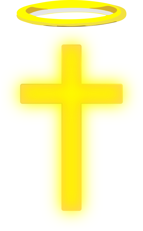 Clipart - Cross With Halo