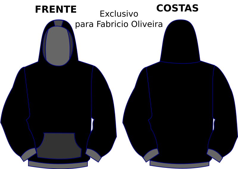 Hoodie template by LonelyEagle - Is a template to make personalized hoodies.