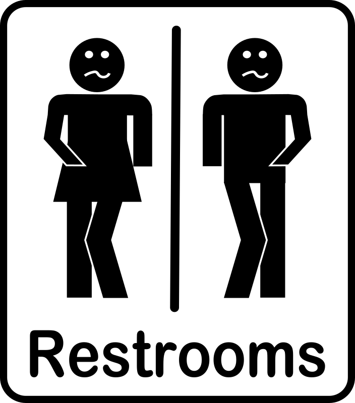 Restrooms by Arvin61r58 - Humorous Restroom Sign