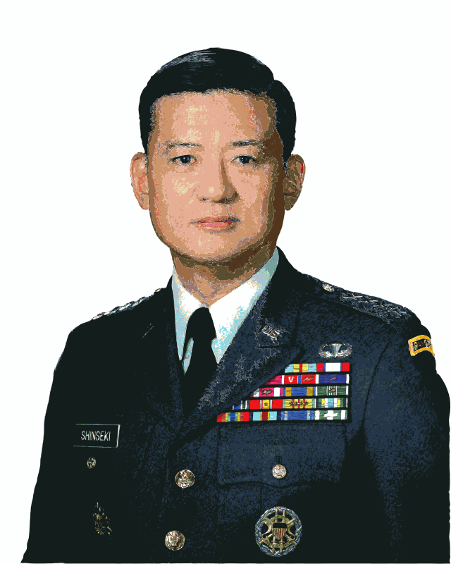 Eric Shinseki Cutout by jonphillips - He is in the news for his management of US Veteran's Affairs. Eric Shinseki's face as an outline. https://en.wikipedia.org/wiki/Eric_Shinseki #filter:tiltshift