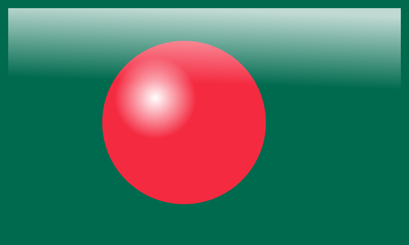 Bangladesh Glossy Flag III by bdtiger2000 - This is the Bangladesh Flag with a new a new glossy theme.