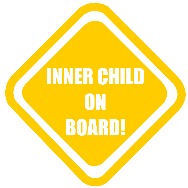 "Inner Child Onboard by Bonzo - ""Inner child on board"" sign."