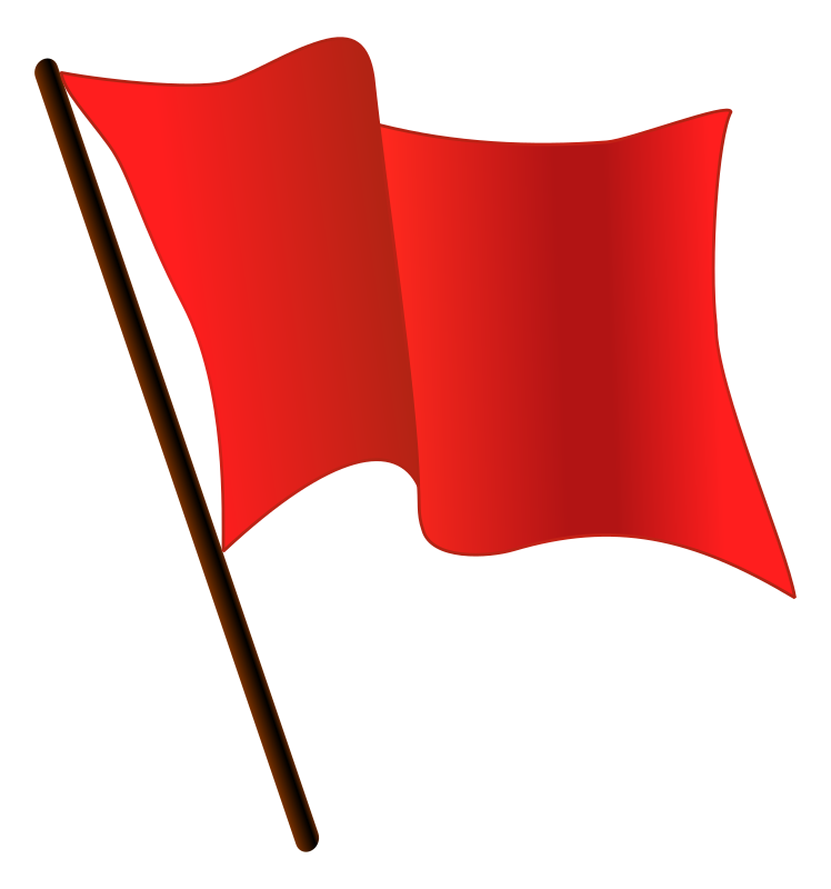DodgerRed Flag Waving  by worker - Public Domain Source http://en.m.wikipedia.org/wiki/File:DodgerBlue_flag_waving.svg