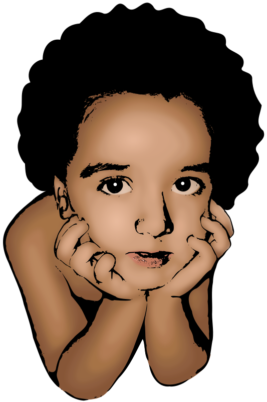 Thoughtful Boy by aurium - A thoughtful boy made with vectors only, based in a family photograph. The skin uses the blur filter of Inkscape 0.45.