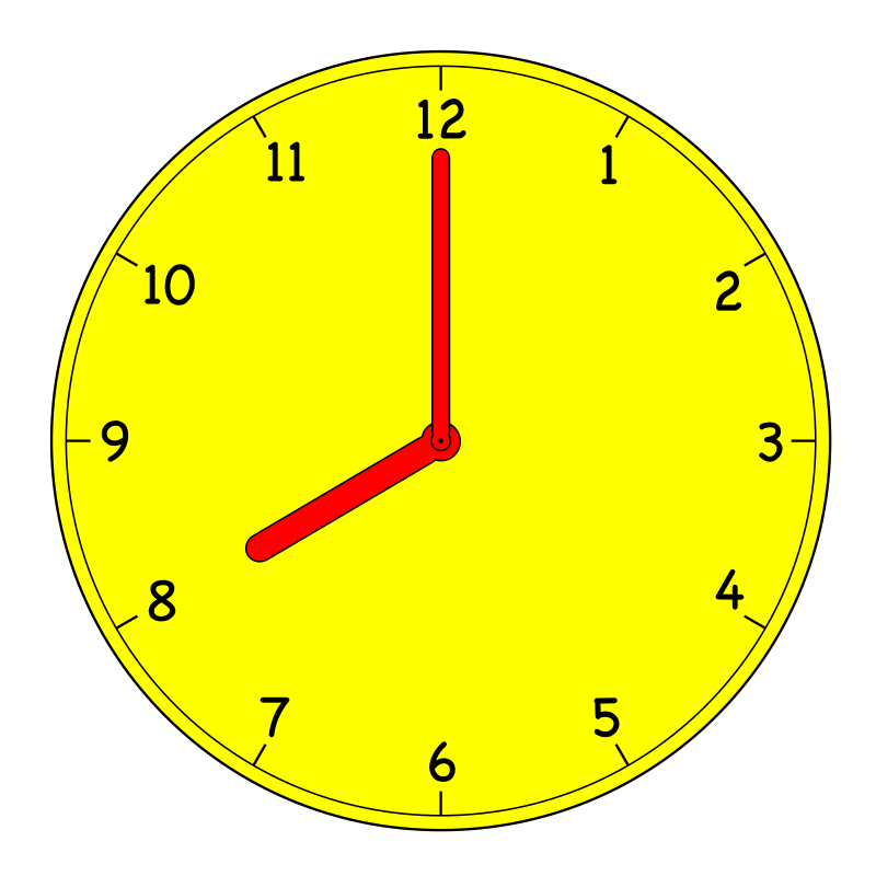 Clock by manio1 - A collection analogue clocks showing every half hour. Suitable for education purposes.