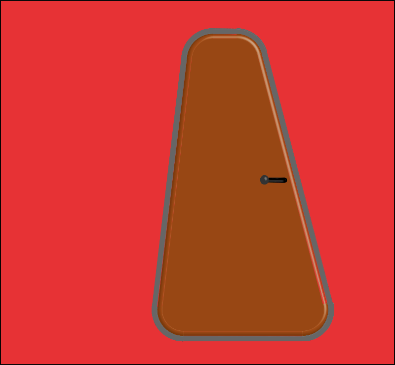 Clipart - Brown door in front of red wall