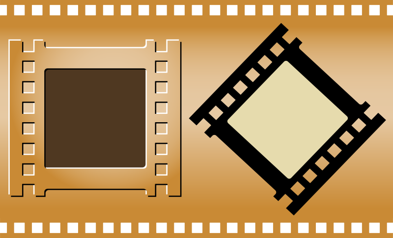 Clipart - Three Film Strips - Poster Frame