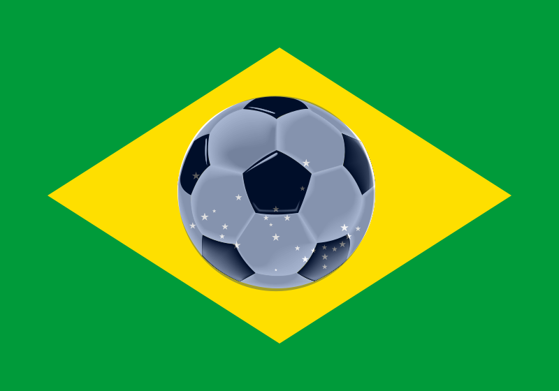 Flag of Football by j4p4n - I hope this isn't too weird? I just thought because the worldcup is happening in Brazil and the flag of Brazil slightly looks like a ball, I'd make a flag that looks like a football with Brazil colours. I hope that is useful somehow! (The image uses transparency to get the effect, so if your browser doesn't support that in SVGs it'll  look weird.)