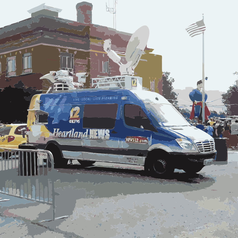 News Van by wanglizhong - Hi can someone help me cut this news vam out and clean up? #filter+pro