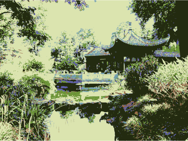 Chinese Garden XIII by martinaledermann - Chinese Garden, Oilpainting , , , , , , , , , , , ,