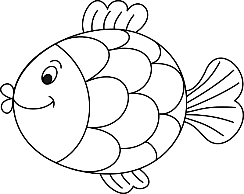 Fish by katjo - A line drawing of a fish.