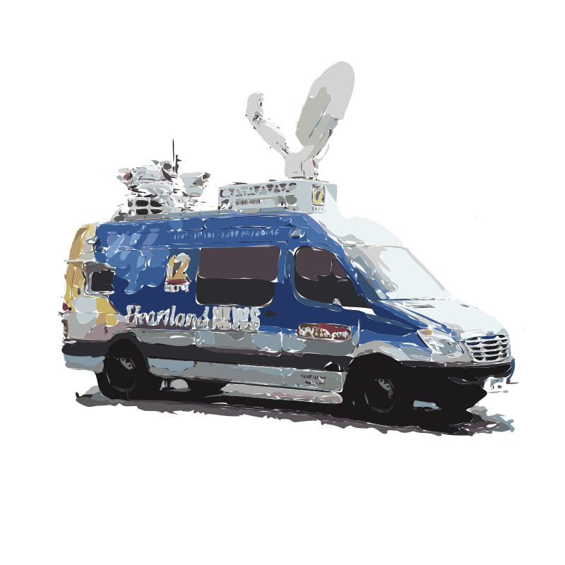 News Van (Isolated) by rejon - A newsvan with the background and other parts removed so easier to simplify or do more with. Also the shapes are all simplified.