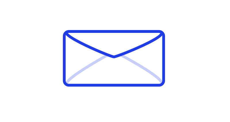 Mail Envelope blue by gerhard-tinned - Envelope icon