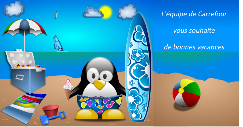 Tux_at_the_Beach_by_Merlin2525-remix-vacances by acotte