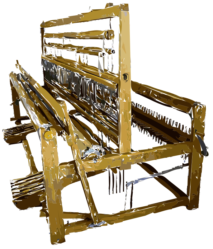 Old Fashioned Fabric Loom Vectorized by rejon - A corrected vectorized version of the original requested image. Does this help? Should we start providing some original storage for bitmaps of requests?