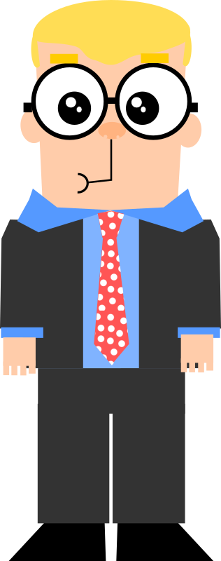 Cartoon guy with glasses by Dog99x - It is a cartoon of a guy with a suit and glasses