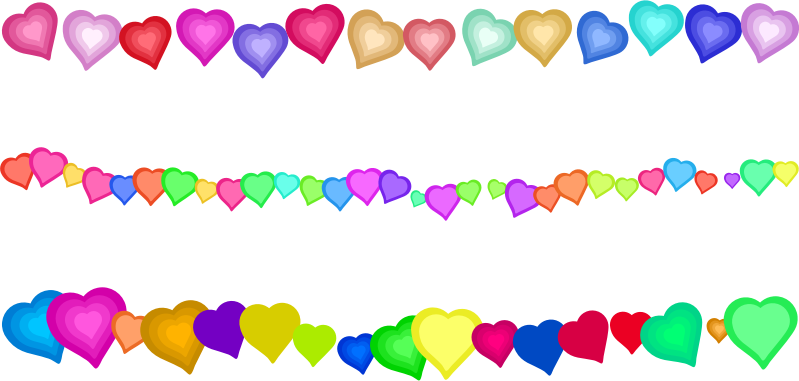 Clipart - Heart Page Border Decorations