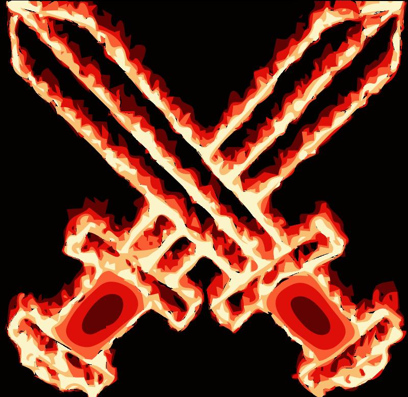 clipart flaming sword