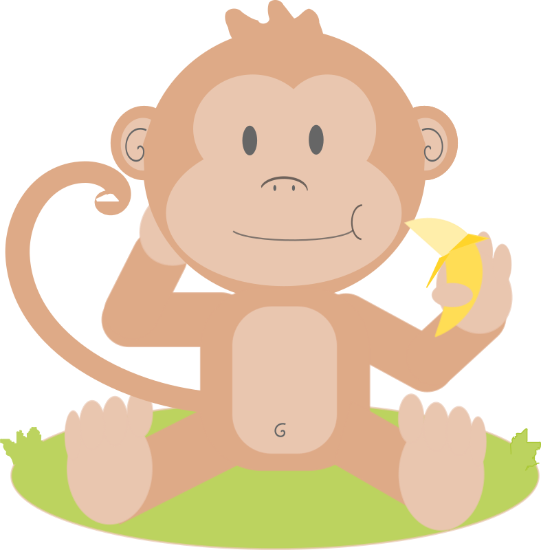 Cartoon monkey by Dog99x - It is a cartoon of a monkey, hope you like it.
