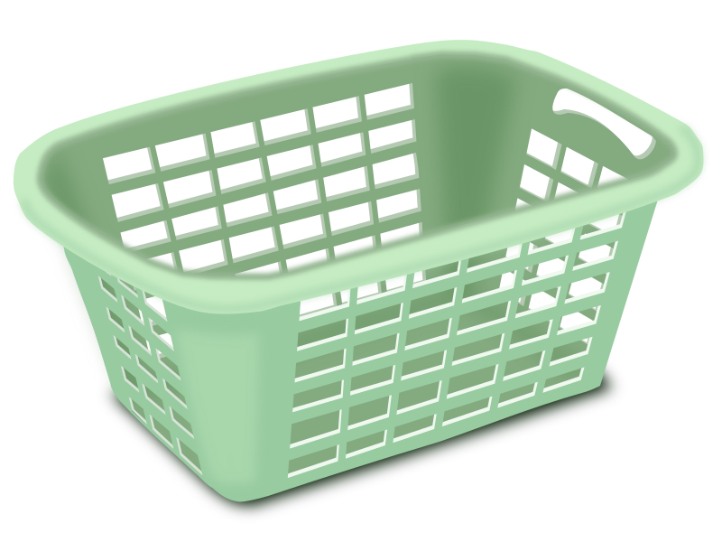 clipart plastic laundry basket rh openclipart org Folded Laundry Clip Art laundry basket clipart black and white
