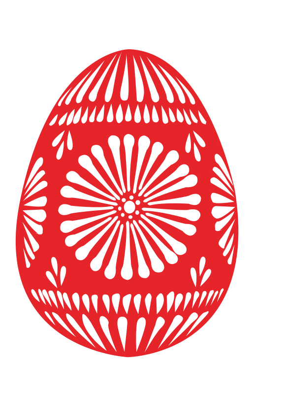 3 colour easter eggs by shokunin - A red easter egg.