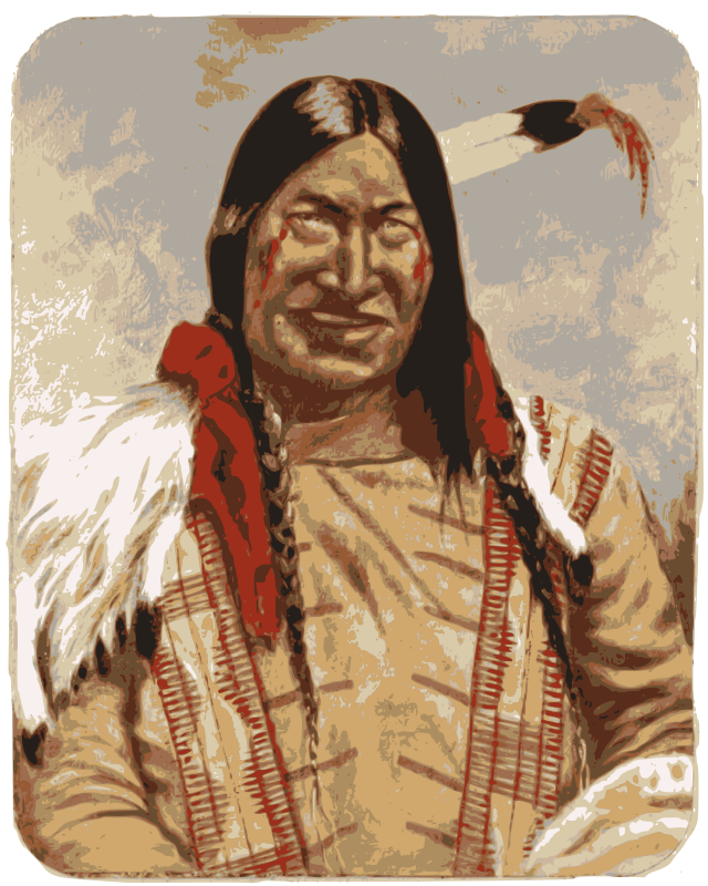 "Native American Man by j4p4n - This was an old drawing based on a real Native American man (apparently his name was ""Ako-tau-moch-kan"") and I really enjoyed the expression on his face, and the history it conveyed."