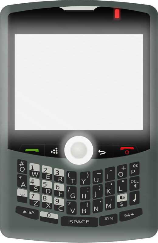 Blackberry Curve 8330 by JoelM - This is a drawing of a Blackberry Curve 8330 with the screen on.