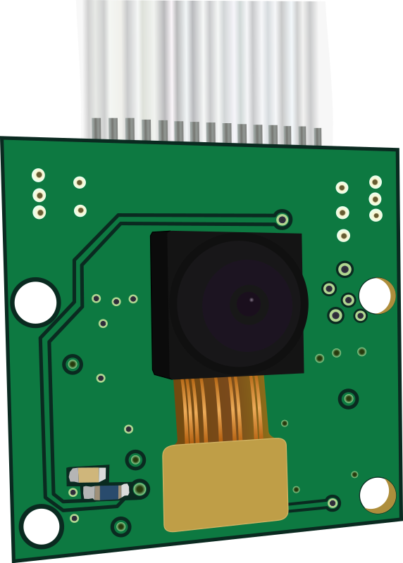 Raspberry Pi Camera by cyberscooty - Graphical representation of Raspberry Pi Camera Revision 1.3