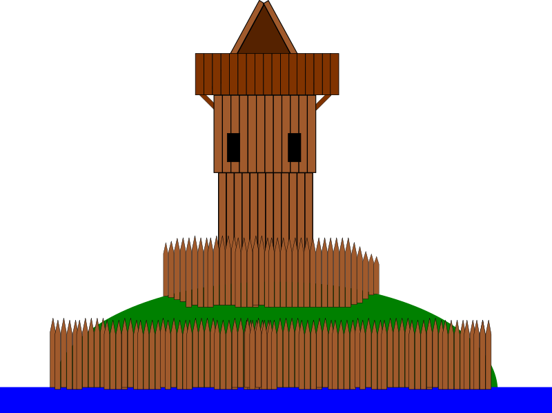"Castle ""Motte"" by ifish - A drawing of a castle, typ ""motte"""