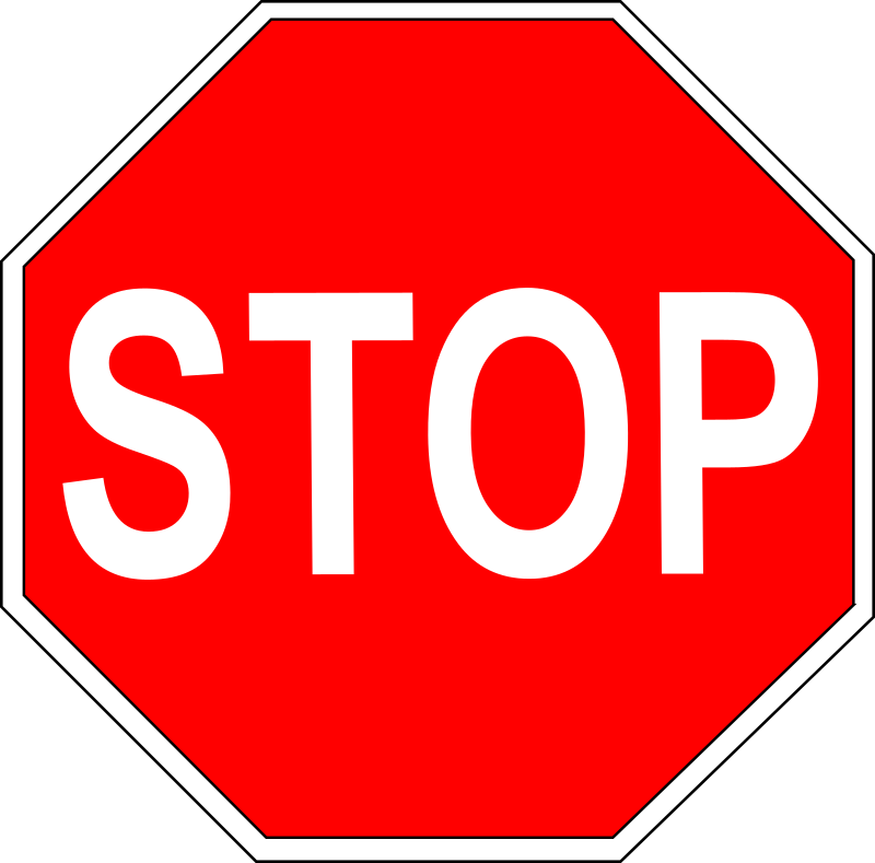 Stop Sign by schoolfreeware - Stop Sign