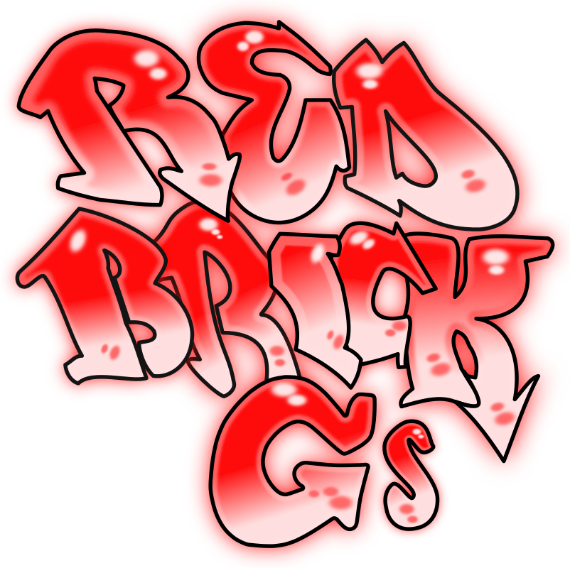 Red Brick G's by JoelM - Graffiti letterings traced from an image. Made this as it was requested