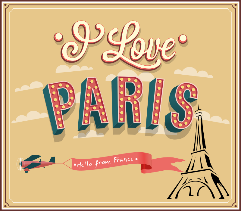 I love Paris by cyberscooty - Banner or greeting card from Paris, France.