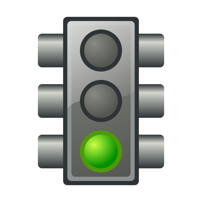clipart traffic light green - photo #2