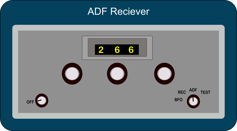 ADF Reciever by Startright - This is a very old style of radio equipment used by pilots to navigate.  This radio allows the pilot to naviagte to radio beacons and AM Radio stations.