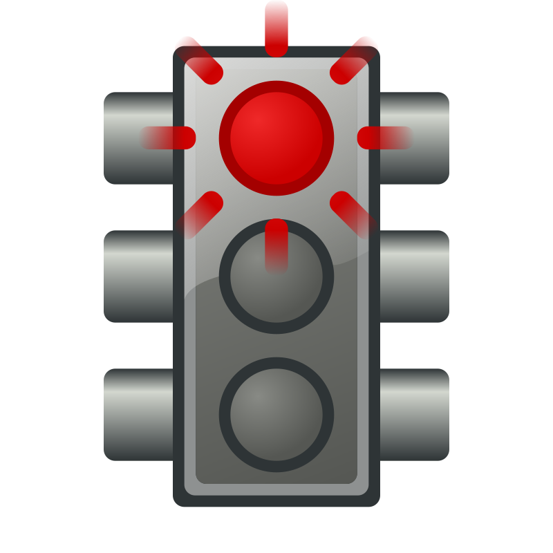 Flashing red traffic light by jhnri4 - Flashing red traffic light