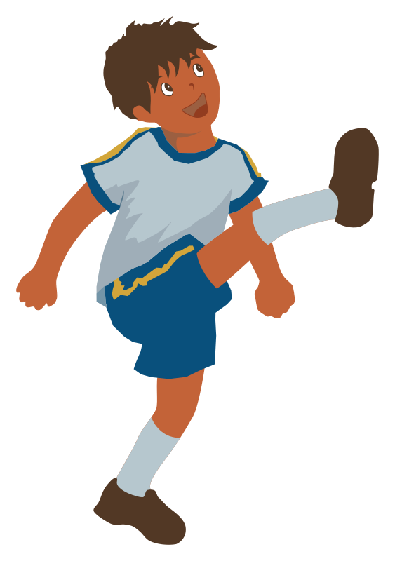 Hong Kong Kid by hector gomez - young boy plays soccer.  Found here:  https://openclipart.org/detail/194885/REQUEST-Hong-Kong-Street-Characters-by-wanglizhong-194885