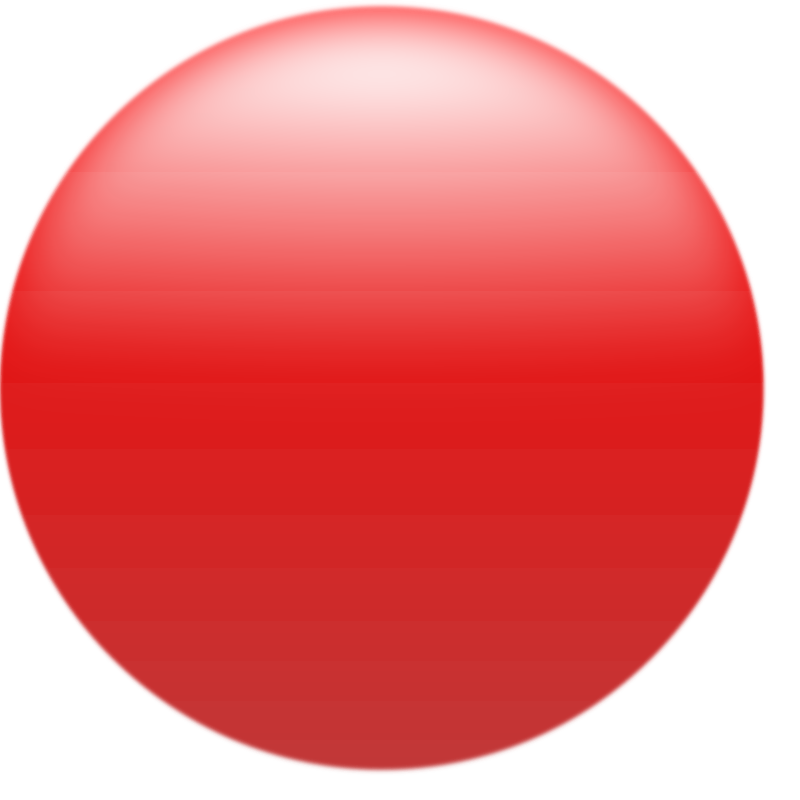 Simple Glossy Circle Button Red by roystonlodge