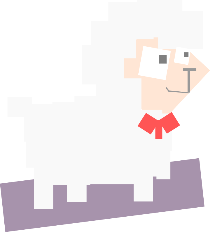 Square animal cartoon sheep by Dog99x - This cartoon is made only with squares (somewhat), the 4th is a sheep, hope you like it!