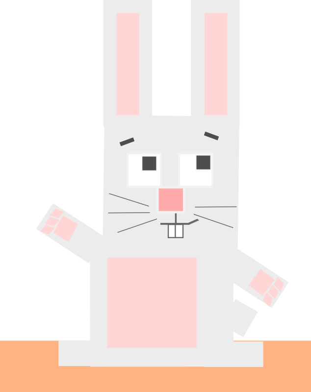 Square animal cartoon rabbit by Dog99x - This cartoon is made only with squares (somewhat), the 19th is a rabbit, hope you like it!