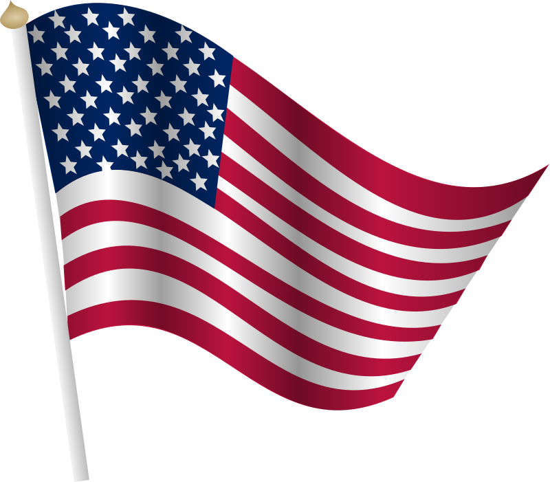 free animated clip art american flag - photo #39