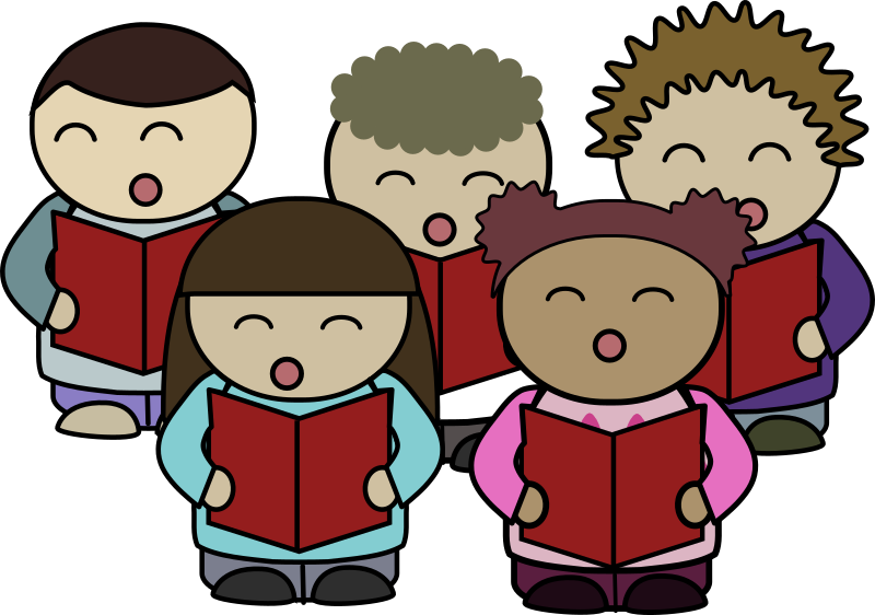 Clipart - Choir singing