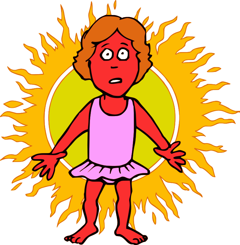 Clipart - Sunburn - Woman