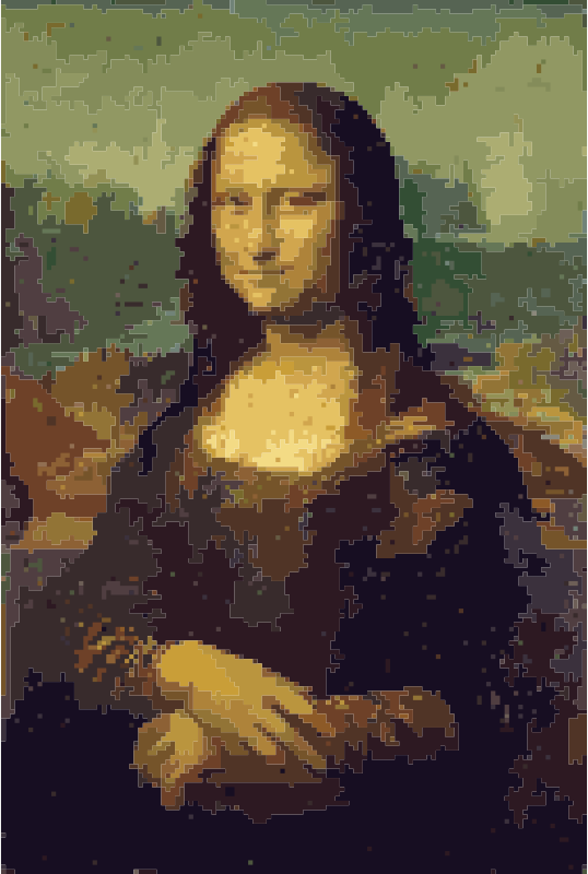 New Mona Lisa in the Pixel Age by wallpapergirl - I'm inspired by rejon's Mona Lisa, so I created my own, but pixelized https://en.wikipedia.org/wiki/Isleworth_Mona_Lisa davinci