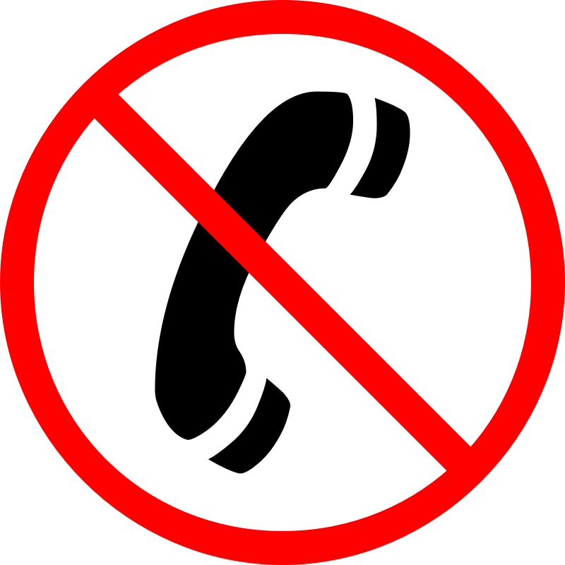 "No phone call by CrazyTerabyte - A ""No Phone Call"" sign, also meaning Forbidden or Blocked.