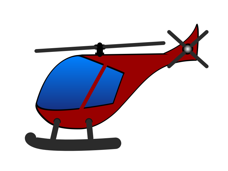 simple cartoon red elicopter by martin74