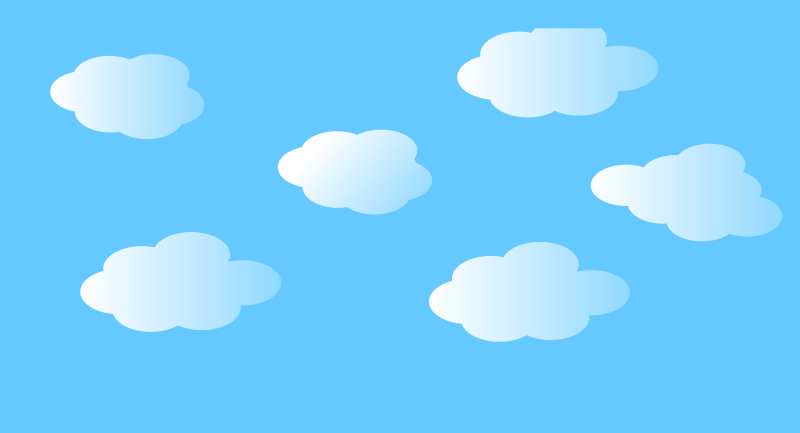 Simple clouds by rdevries - A couple of simple cluds in the air.