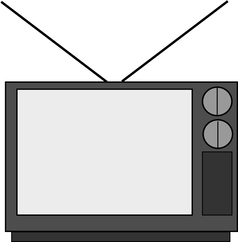 Television on house clip art