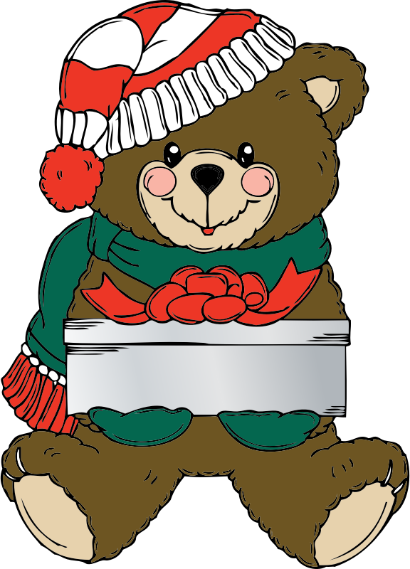 Christmas Bear wih present by johnny_automatic