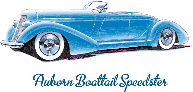 Auburn Boattail Speedster by bnsonger47 - Auburn was the name of a car produced in the first third (or so) of the 20th century in the town of Auburn, Indiana - which is also home to the Cord automobile. One of their classic creations was the boattail speedster.